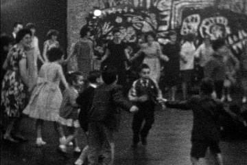 play video for Cine Club Outing, Stratford on Avon 1962; Cambridgeshire Draw-Dance with Nicholas Parsons, 1961; Children's Party