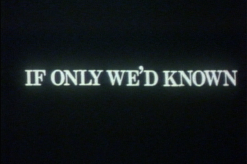 play video for If only we'd known