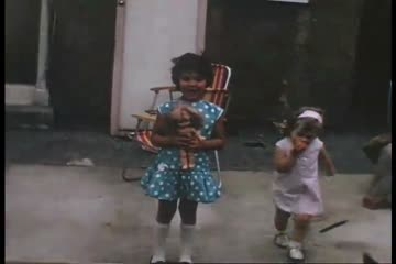 play video for Girls with toys in garden