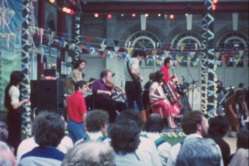 play video for Kaye compilation including a carnival event at Alexandra Palace, 1979